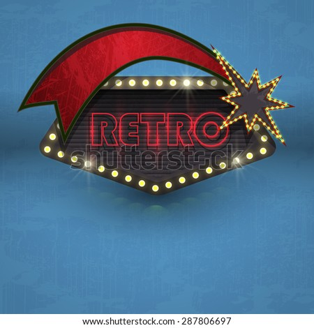 retro road sign vector vintage element - stock vector