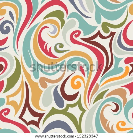 Retro  seamless abstract pattern - stock vector