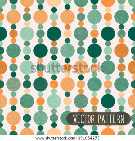 Retro seamless pattern with circles. Paper background. - stock vector