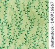Retro seamless texture of green trees. Vector pattern. - stock vector