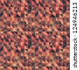 Retro seamless triangle abstract pattern. Vector illustration - stock vector