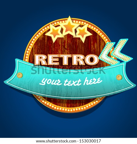 retro sign, vector illustration - stock vector