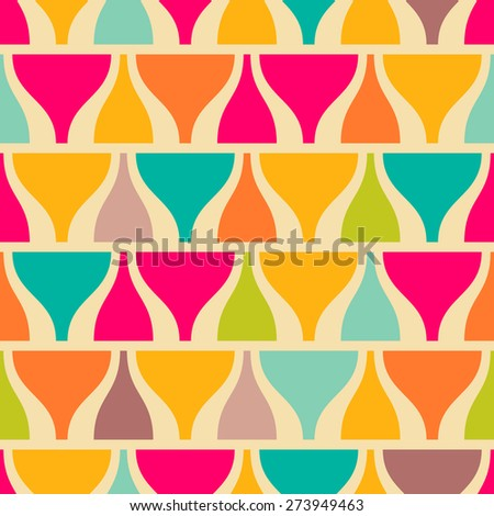 Retro style abstract colorful seamless pattern - stock vector