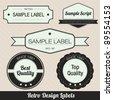 Retro Style Badges - stock vector