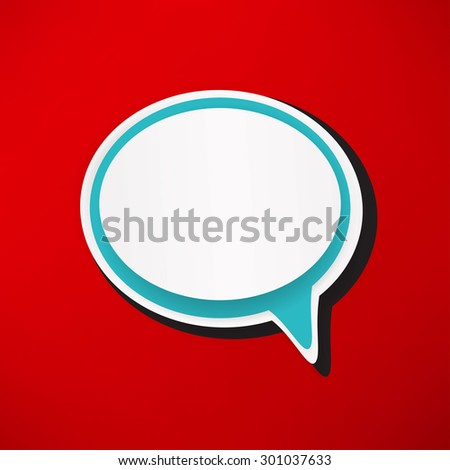 retro style bubble speech icon - stock vector