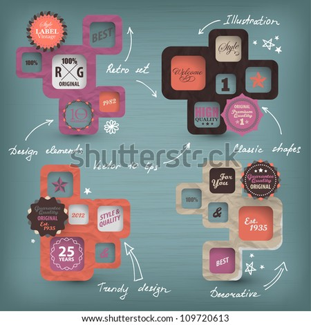Retro style collection - stock vector