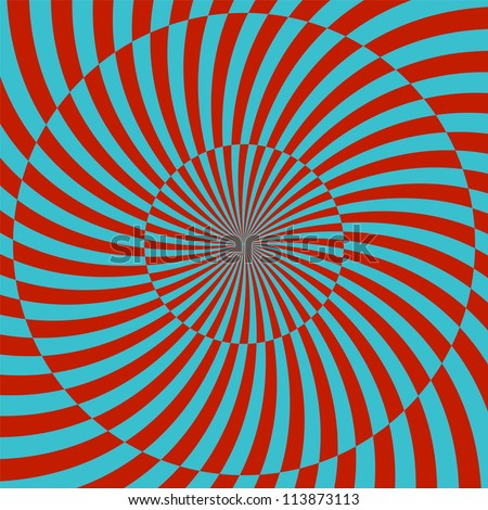 Retro style hypnotic background. vector illustration - stock vector