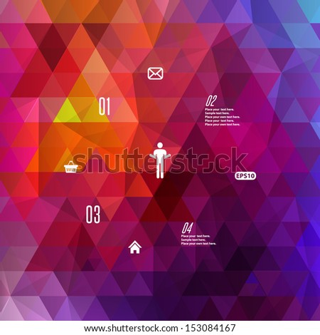 Retro style spectrum geometric background - stock vector