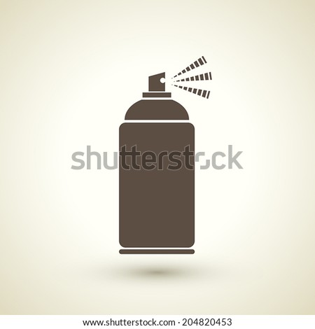 retro style spray bottle silhouette isolated on beige background   - stock vector