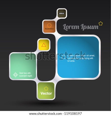 Retro Style Vector design frame, rectangle - stock vector