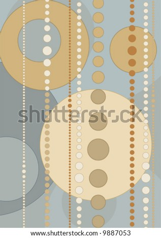 Retro style Wallpaper with nice colors - stock vector