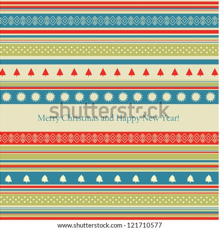 Retro-styled Christmas vector - stock vector