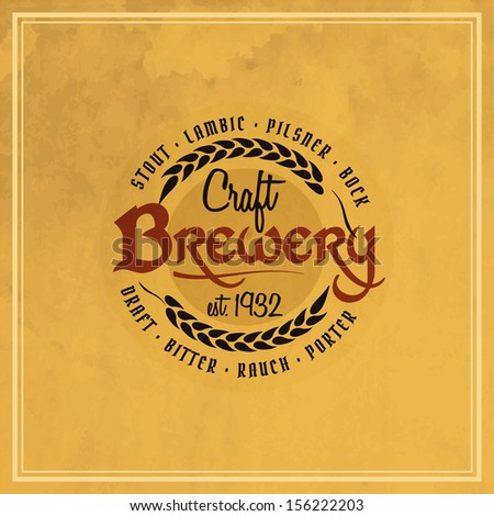 Retro styled label of beer. Good as a template of advertisement. Editable layered vector.  - stock vector