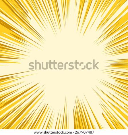 Retro Sunburst Graphic Background - stock vector