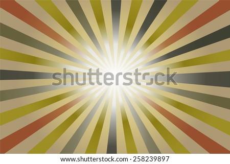 Retro swirl sunburst background.- vector illustration  - stock vector