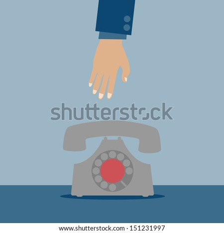 Retro Telephone - stock vector