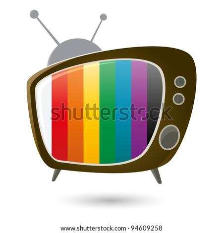 retro television - stock vector