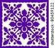 Retro Tropical Purple Hawaiian Quilt Background Vector Illustration - stock vector