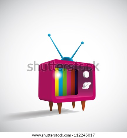 Retro TV. Eps10 .Image contain transparency and various blending modes - stock vector