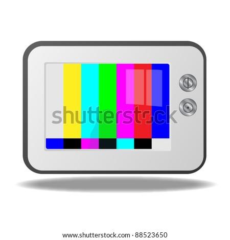 Retro TV Illustration - stock vector