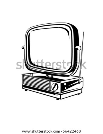Retro TV 2 - Retro Clip Art - stock vector