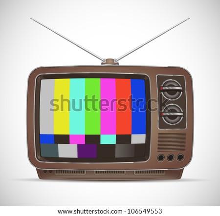 retro tv-set - stock vector
