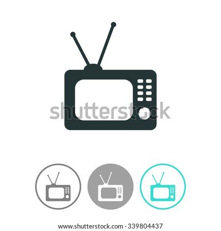 Retro TV vector icon. - stock vector