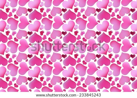 Retro valentine seamless pattern with hearts. seamless pattern of hearts on a white background - stock vector