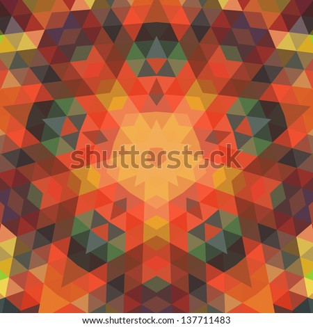 Retro vector backdrop of geometric shapes. Colorful mosaic banner. Geometric hipster retro background with place for your text. Retro triangle background - stock vector