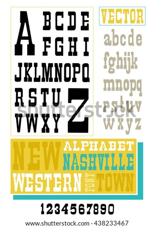 Retro Vector font - stock vector