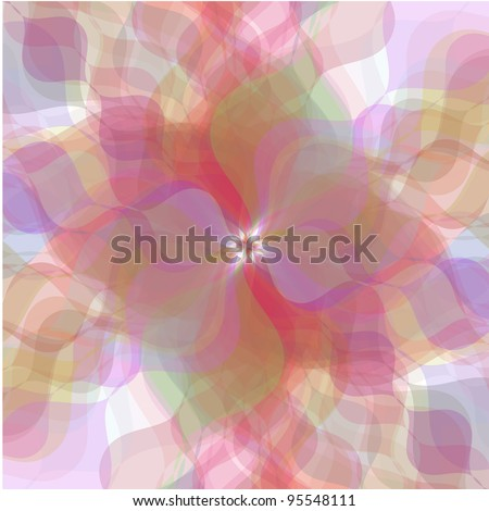 Retro vector multicolored pastel flowers background - stock vector