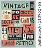 Retro Vintage Background with Typography - stock vector