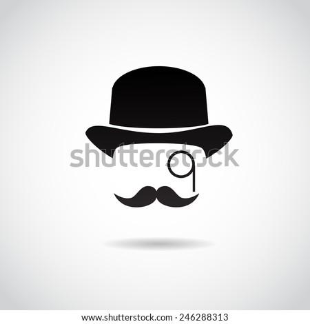 Retro, vintage gentleman. Vector illustration. - stock vector