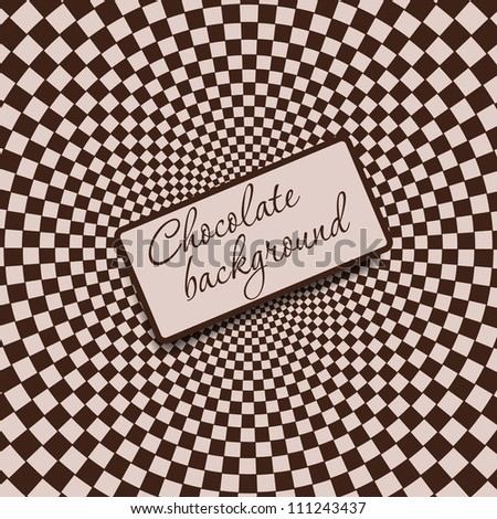 Retro vintage grunge hypnotic CHOCOLATE background.vector illustration - stock vector