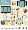 Retro vintage Infographic template business vector illustration - stock vector
