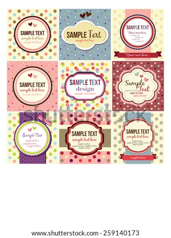 retro, vintage labels set - stock vector