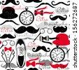 Retro vintage seamless pattern. - stock vector