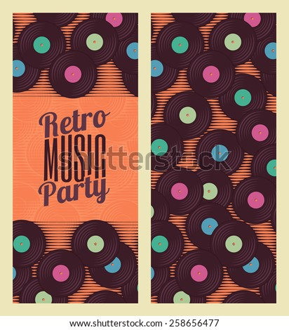 Retro, vintage vinyl record template. Stylized invitation, banner or flyer - stock vector