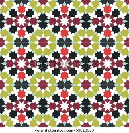 Retro wallpaper background pattern - stock vector