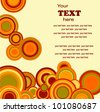 Retro wallpaper with circles with place for text - stock vector