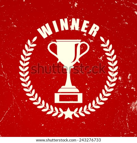 Retro winner icon - stock vector