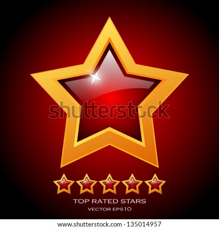 Review rating stars, vector illustration - stock vector
