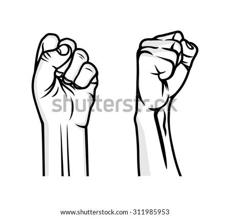 Revolution fist vector illustration - stock vector