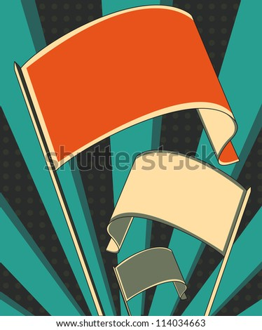 revolution flag poster - stock vector
