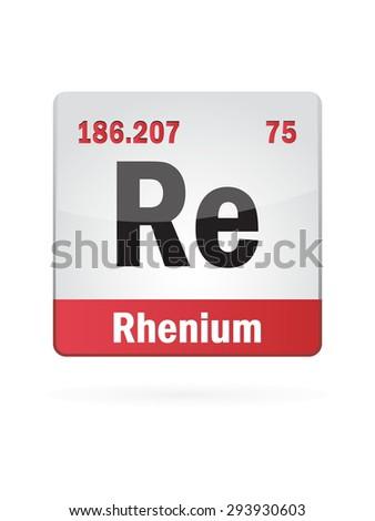 Rhenium Symbol Illustration Icon On White Background - stock vector