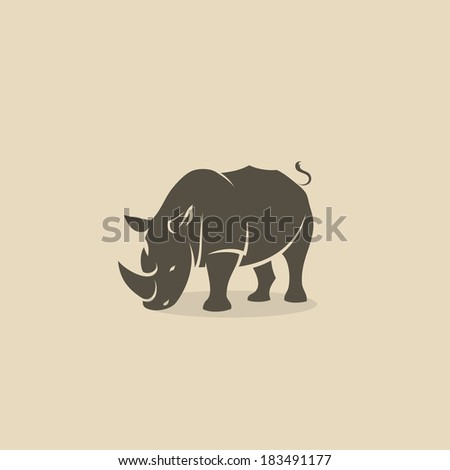 Rhino - vector illustration - stock vector