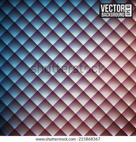 Rhombus  pattern. Rerto style background - stock vector