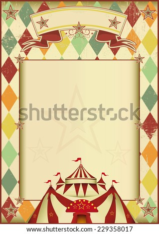 Rhombuses circus vintage background. A vintage circus poster with rhombuses for your show - stock vector