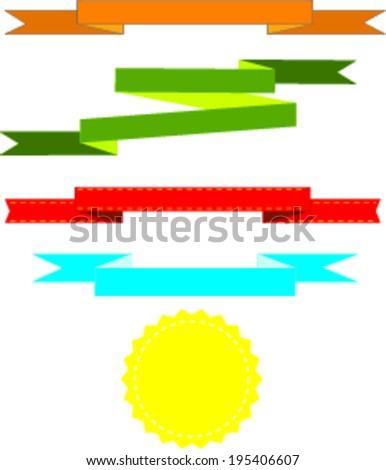 ribbon banner  - stock vector