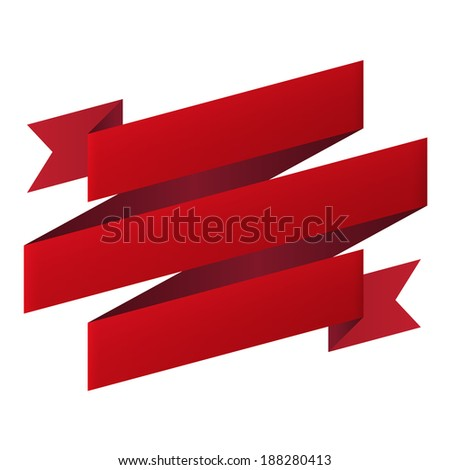 Ribbon banner design element icon isolated on white background. Vector illustration - stock vector